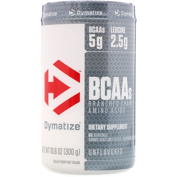 Dymatize Nutrition, BCAAs, Unflavored, 10.6 oz (300 g) (Discontinued Item)