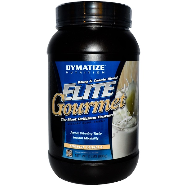 Dymatize Nutrition, Белок Elite Gourmet со вкусом французской ванили, 2 фунта (907 г) (Discontinued Item)