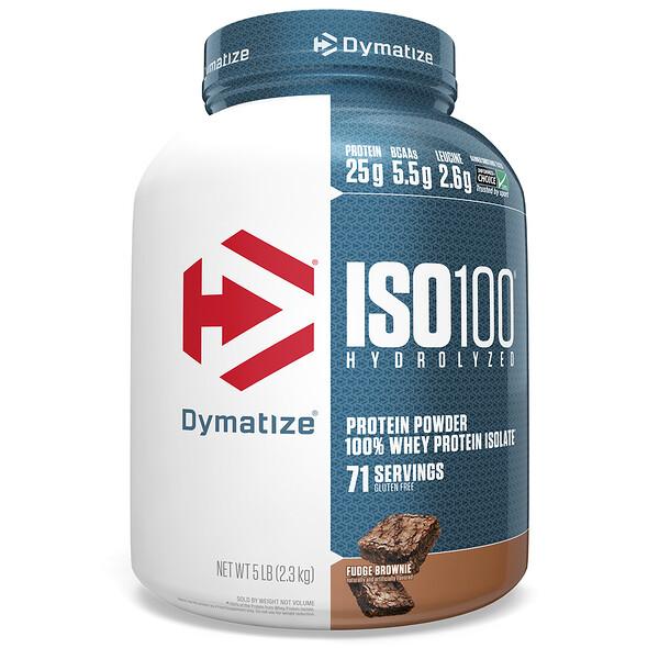 ISO-100 гидролизированный, 100%-ный сывороточный изолят белка, мягкое брауни, 5 фунтов (2,27 кг)