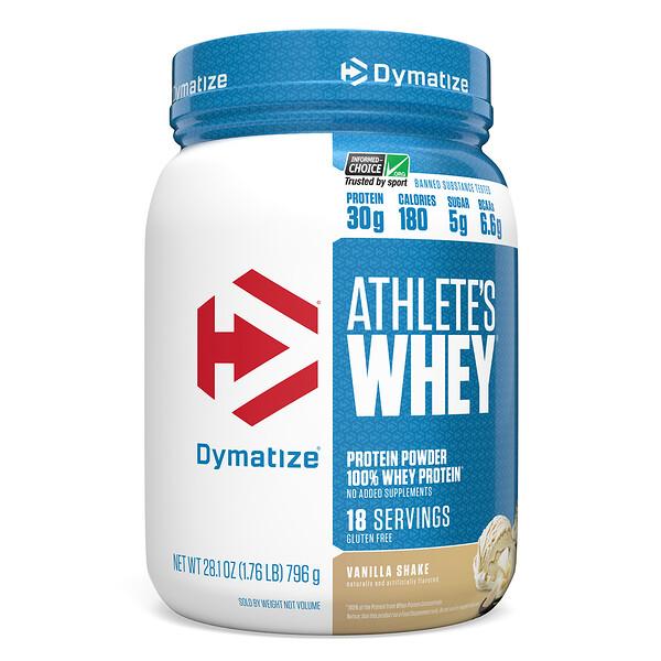 Athlete's Whey, молочная сыворотка, ванильный шейк, 792г