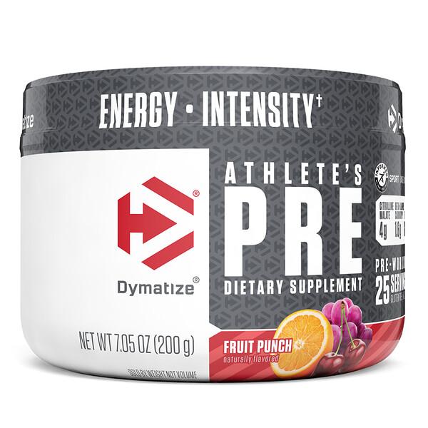 Athlete'sPre, предтренировочная добавка, фруктовый пунш, 200г (7,05унции)