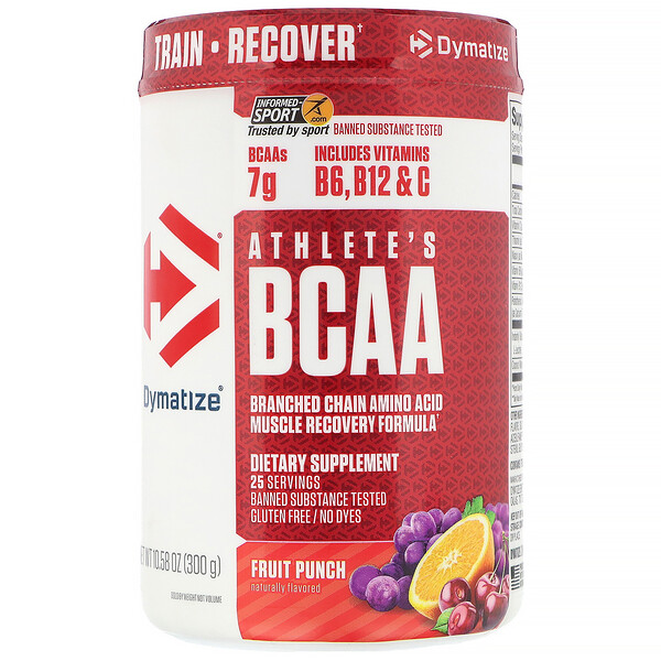 Athlete's BCAA, добавка для физической активности, фруктовый пунш, 300г