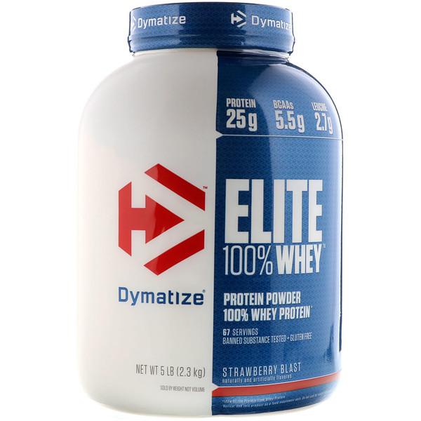 Elite 100% Whey Protein, Strawberry Blast, 5 lbs (2.27 kg)