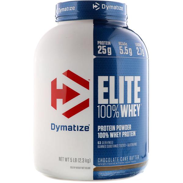 Dymatize Nutrition, Elite, 100% сывороточный протеин, шоколадный пирог, 5 фунтов (2,3 кг) (Discontinued Item)