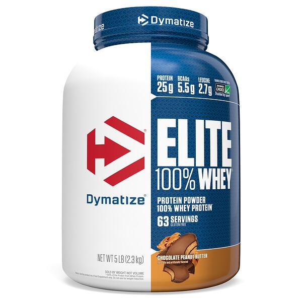 Протеин Elite 100% Whey, шоколад и арахисовое масло, 5 фунтов (2,3 кг)