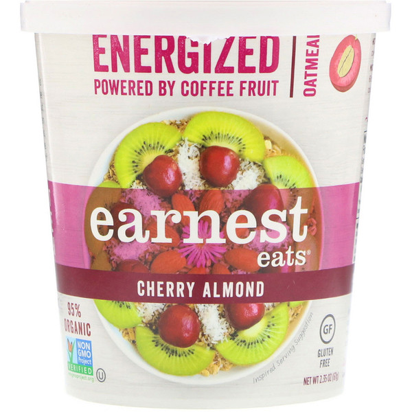 Earnest Eats, Заряжающая энергией каша, вишня-миндаль, 2.1 унции (60 г) (Discontinued Item)