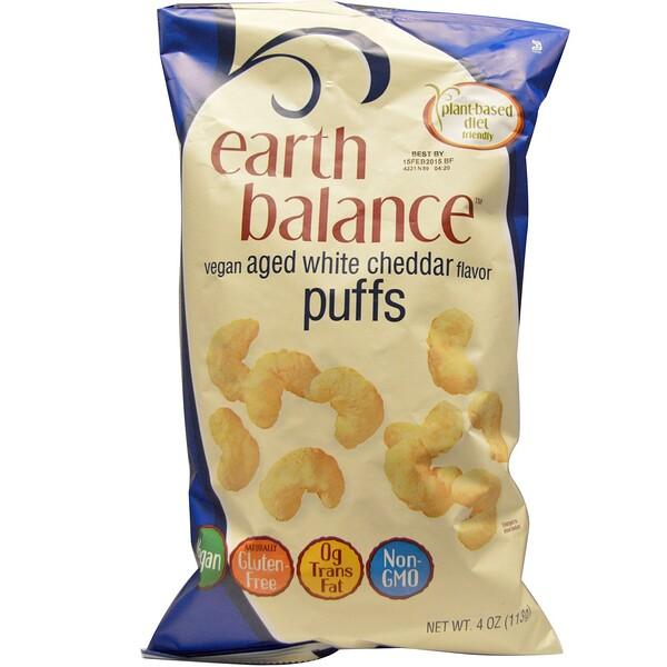 Earth Balance, Веганские хлопья, со вкусом выдержанного белого чеддера, 4 унции (113 г) (Discontinued Item)