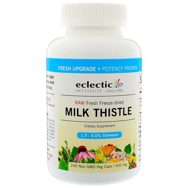Eclectic Institute, Расторопша, 600 мг, 240 растительных капсул без ГМО
