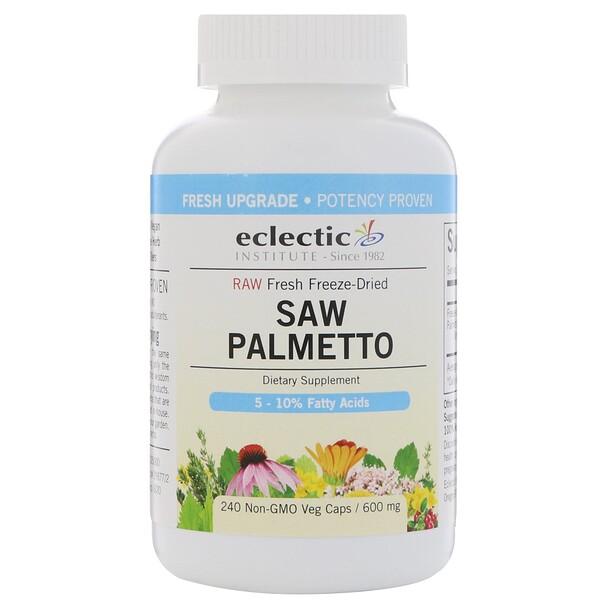Eclectic Institute, Пальма сиреноя, 600 мг, 240 растительных капсул без ГМО