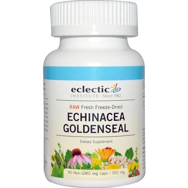 Eclectic Institute, Echinacea Goldenseal, Raw, 350 mg, 90 Non-GMO Veggie Caps (Discontinued Item)