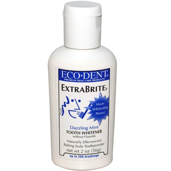 Eco-Dent, ExtraBrite, освежающая мята, отбеливатель для зубов, без фтора, 2 унции (56 г)