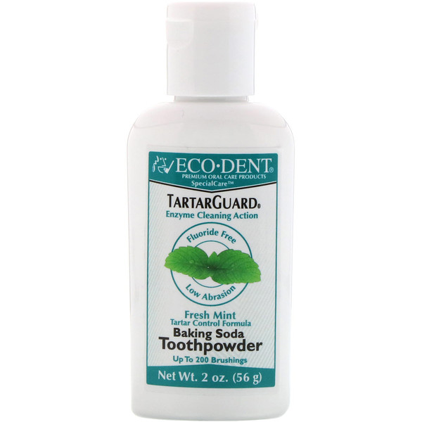 TartarGuard, Baking Soda Toothpowder, Fresh Mint, Fluoride Free, 2 oz (56 g)