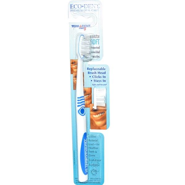 Eco-Dent, TerrAdent med5, Adult 31, Мягкая, 1 зубная щетка, 1 запасная головка