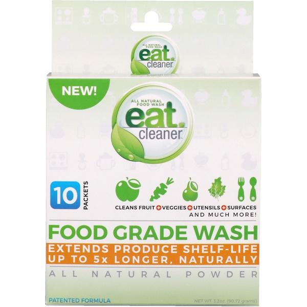 Eat Cleaner, Съедобное средство для очищения, абсолютно натуральный порошок, 10 пакетов, 3,2 унц. (90,72 г) (Discontinued Item)