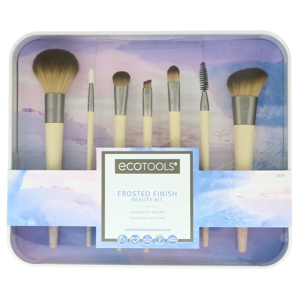 EcoTools, Frosted Finish Beauty Kit, 7 Piece Set & Storage Tray (Discontinued Item)