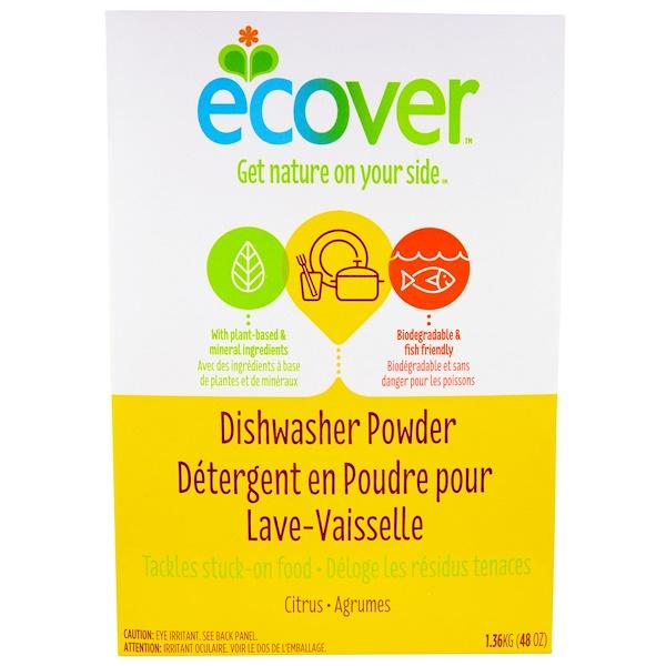 Ecover, Порошок для посудомоечной машины, с цитрусовым ароматом, 1,36 кг (48 унций) (Discontinued Item)