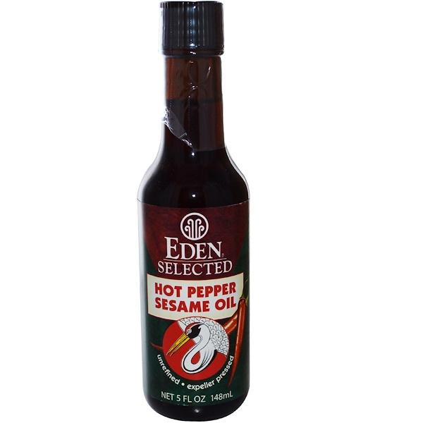 Eden Foods, Отборное кунжутное масло со жгучим перцем, 5 жидк. унц. (148 мл) (Discontinued Item)