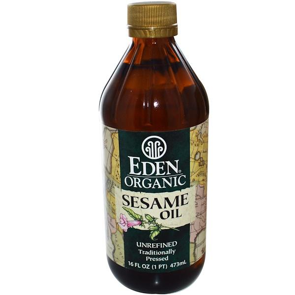 Органическое кунжутное масло, нерафинированное, 473 мл (16 жидких унций)