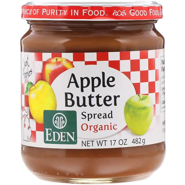 Eden Foods, Органическое яблочное повидло, 17 унций (482 г) (Discontinued Item)