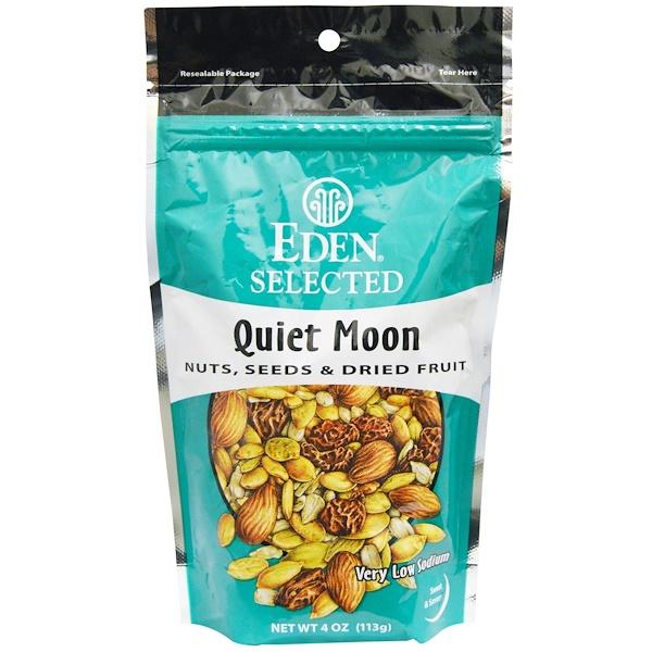 """Eden Foods, Selected, """"Тихая луна"""", смесь орехов, семян и сухофруктов, 4 унции (113 г) (Discontinued Item)"""