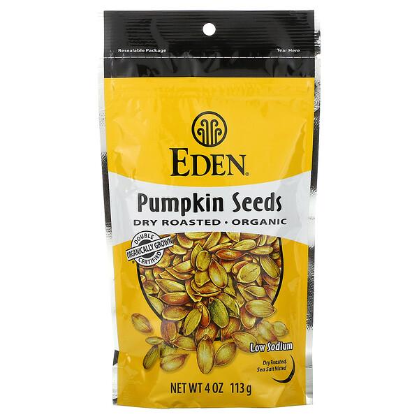 Eden Foods, Organic, семена тыквы, сухая обжарка, 113 г (4 унции)