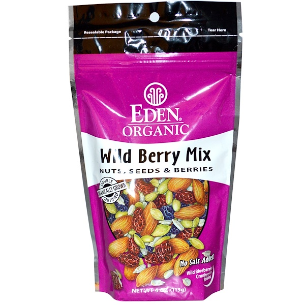 Organic, смесь лесных ягод, орехи, семена и ягоды, 113 г (4 унции)