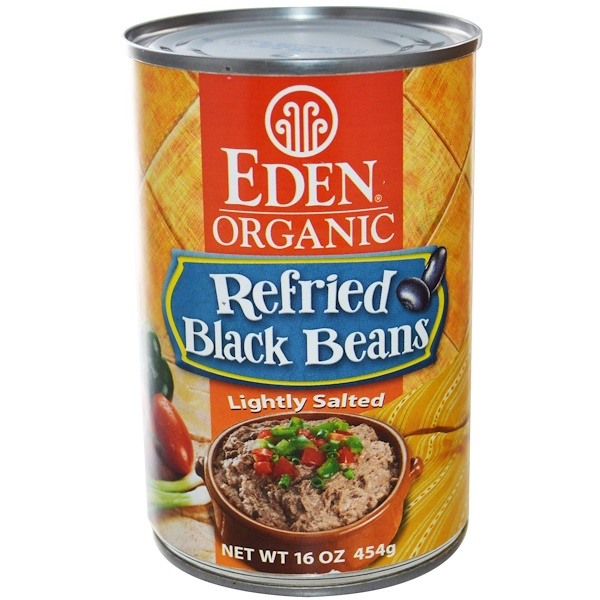 Eden Foods, Organic, Refried Black Beans, 16 oz (454 g) (Discontinued Item)