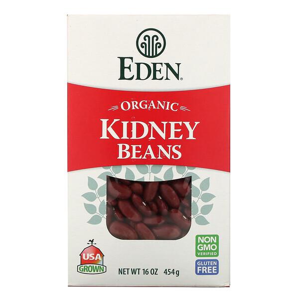 Органическая, красная фасоль, 16 унций (454 гр)