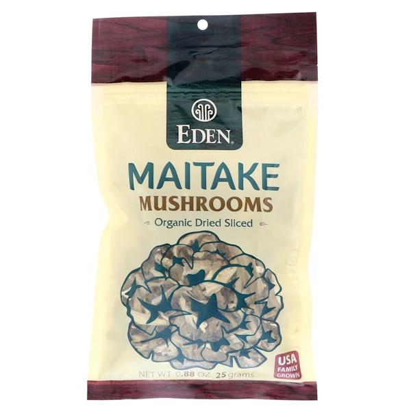Eden Foods, Maitake Mushrooms, Organic Dried Sliced, .88 oz (25 g) (Discontinued Item)