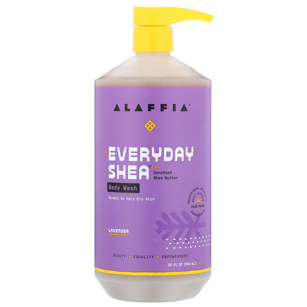 Alaffia, Everyday Shea, гель для душа с маслом ши и лавандой, 950 мл (32 жидк.унции)