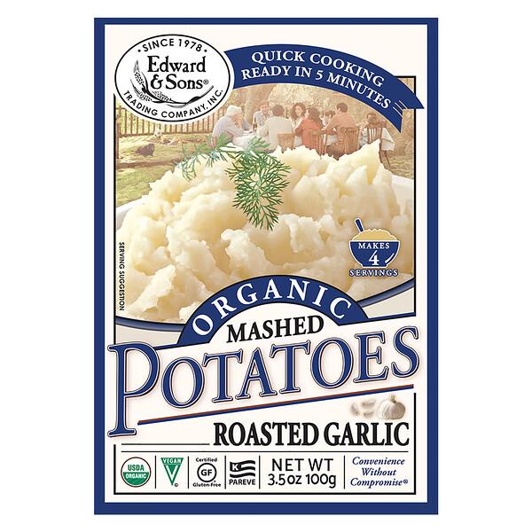 Organic Mashed Potatoes, Roasted Garlic, 3.5 oz (100 g)