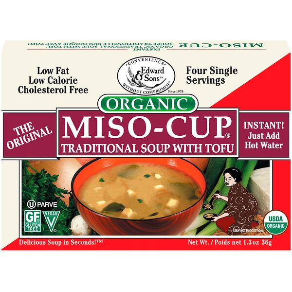 Органический мисо-суп, традиционный суп с тофу 4 пакетика по 1 порции, 9 г каждый