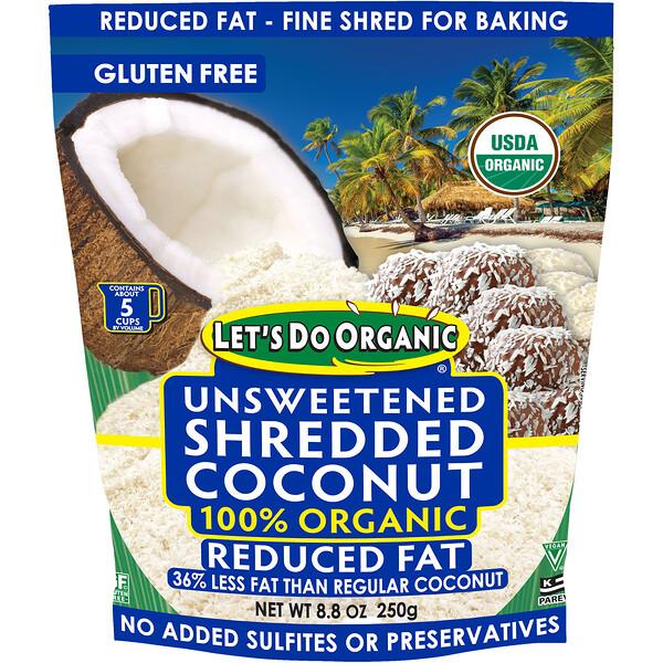 Edward & Sons, 100% органический измельченный кокос, без сахара и с пониженным содержанием жиров, 8,8 унции (250 г)