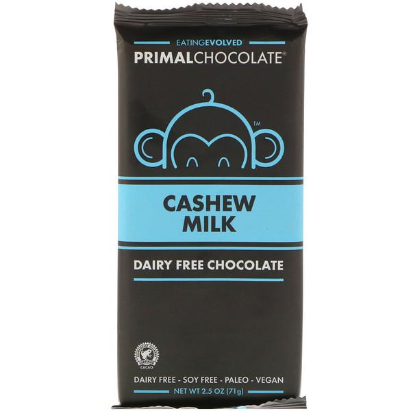 Evolved Chocolate, Первобытный шоколад, молоко кешью, 2,5 унции (71 г)