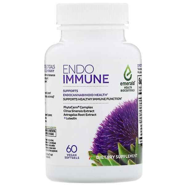 Emerald Health Bioceuticals, Endo Immune, 60растительных мягких таблеток (Discontinued Item)