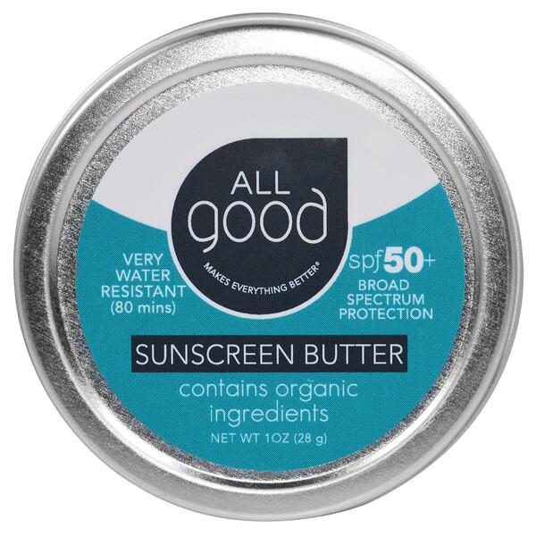 "All Good Products, ""Все хорошее"", солнцезащитное масло, SPF 50, 1 унция (28 г) (Discontinued Item)"