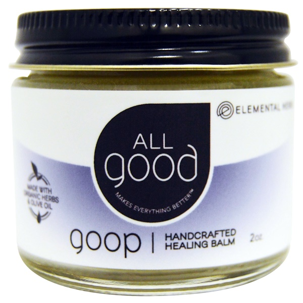 All Good Products, Лечебный бальзам All Good Goop, сделанный вручную, 2 унции (Discontinued Item)