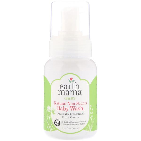 Earth Mama, Для детей, натуральное мыло-гель для детей, без запаха, 5,3 ж. унц. (160 мл) (Discontinued Item)