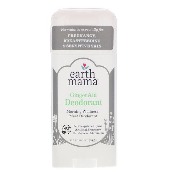 Earth Mama, Дезодорант, имбирное средство, 3 унц. (85 г) (Discontinued Item)