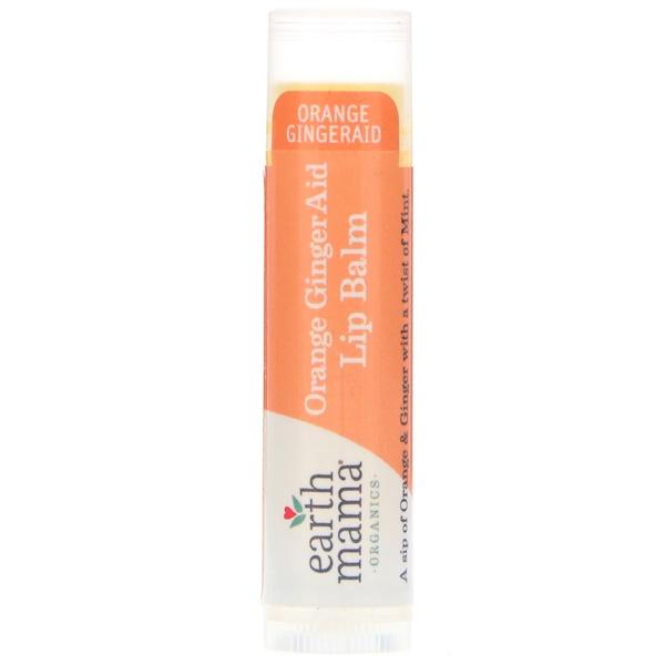 Earth Mama, Orange GingerAid, Lip Balm, .15 oz (4 ml) (Discontinued Item)