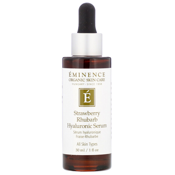 Eminence Organics, Strawberry Rhubarb Hyaluronic Serum, 1 fl oz (30 ml) (Discontinued Item)