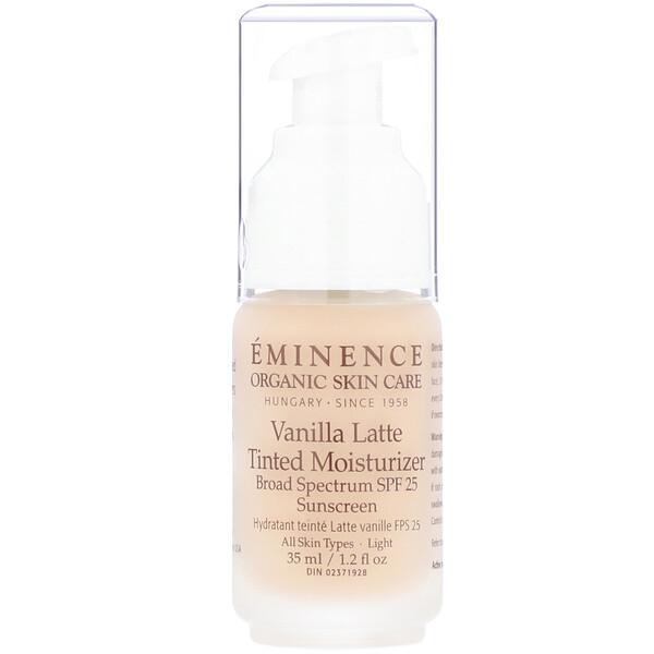 Eminence Organics, Vanilla Latte Tinted Moisturizer, SPF 25, Light, 1.2 fl oz (35 ml)
