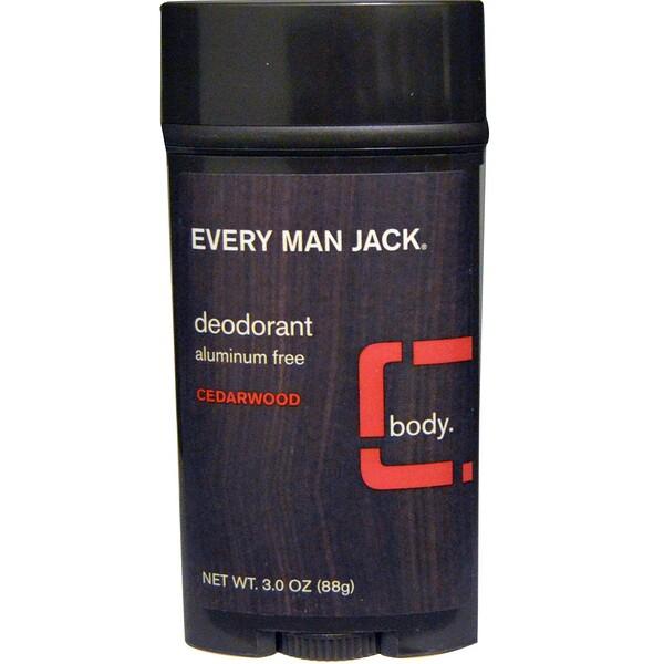 Every Man Jack, Every Man Jack, Дезодорант с кедровым ароматом, 3.0 унции (88 г) (Discontinued Item)