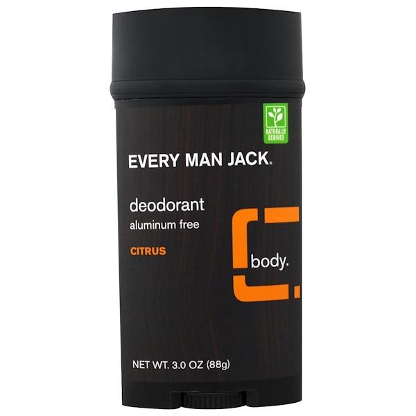 Every Man Jack, Дезодорант, Цитрус, 3,0 унции (88 г) (Discontinued Item)