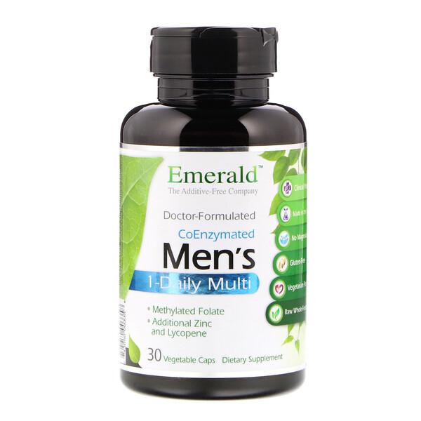 Мультивитамины с коэнзимами для мужчин, 1 в день, 30 растительных капсул