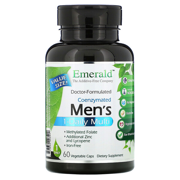 Coenzymated Men's 1-Daily Multi, 60 Vegetable Caps