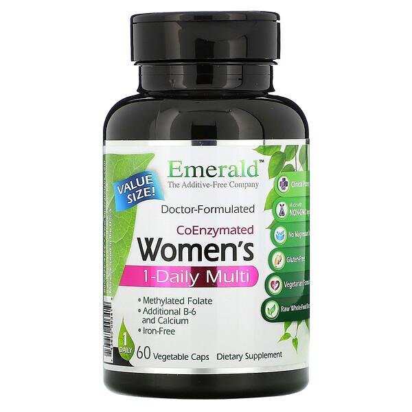 Coenzymated Women's 1-Daily Multi, 60 Vegetable Caps