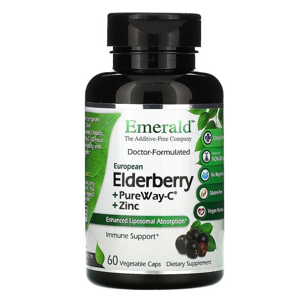 Elderberry + PureWay C + Zinc, 60 Vegetable Caps