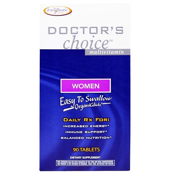 Enzymatic Therapy, Мультивитамины «Выбор врачей», для женщин, 90 таблеток (Discontinued Item)