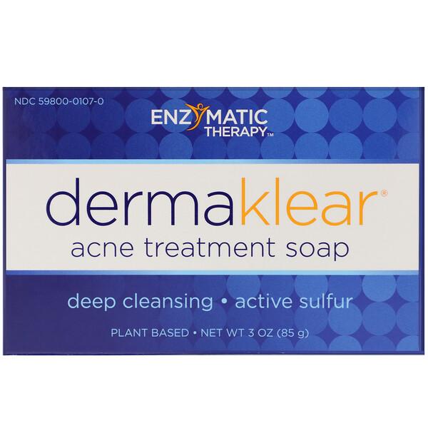Enzymatic Therapy, DermaKlear Acne Treatment Soap, 85 г (3 унции)